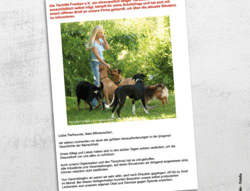 Tierhilfe Franken e. V. braucht eure Unterstützung